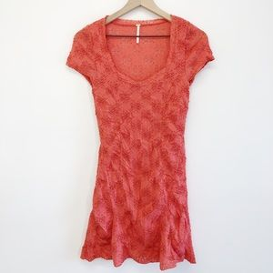 Free People Orange Flower Print Dress